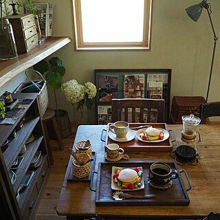 机/いつかの朝食/インスタ→slow.life.works/ゆうこさんちの手づくり暮らしのインテリア実例 - 2018-07-10 23:07:41