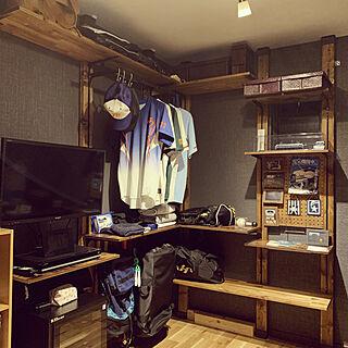 趣味部屋/鉄道/野球/思い出を飾る/ディアウォール棚...などのインテリア実例 - 2020-08-07 00:03:23