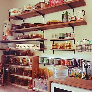 女性41歳の家族暮らし、アンバーの食器に関するmaaさんの実例写真
