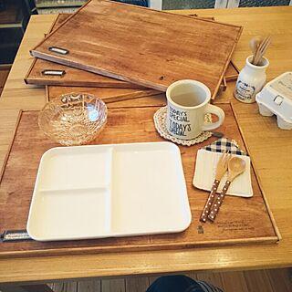 女性家族暮らし3LDK、CAFEトレーに関するnahhoさんの実例写真