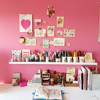 机/パッケージ/文房具/IKEA/ピンク...などのインテリア実例 - 2014-12-05 18:27:54