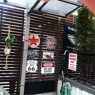 玄関/入り口/ラティス♡/木製看板/ルート66/アメリカン...などのインテリア実例 - 2014-11-24 16:03:08