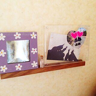 女性家族暮らし、写真飾っている場所、フォトフレームに関するharuさんの実例写真