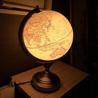 女性41歳の家族暮らし3LDK、地球儀に関するnoma--1202さんの実例写真