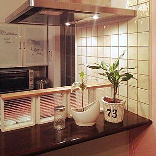 キッチン/リメイク/外国のインテリアに憧れて/広島好きじゃけん会♡/ステンシル...などのインテリア実例 - 2014-08-17 00:09:17