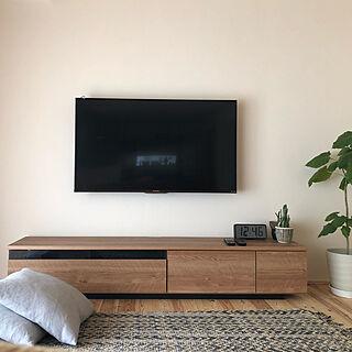 壁掛けテレビ/テレビボード/リビングのインテリア実例 - 2019-04-22 12:53:48