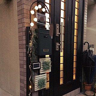 玄関/入り口/10000人の暮らし/雨樋照明/照明/DIY...などのインテリア実例 - 2018-01-26 00:42:36