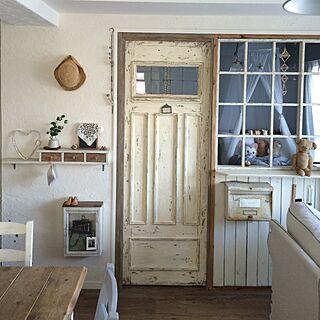 女性家族暮らし3LDK、ドア枠なしに関するicchiさんの実例写真