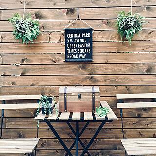 玄関/入り口/グリーンのある暮らし/DIYのある暮らし/グリーンネックレス/カインズ福岡新宮店...などのインテリア実例 - 2019-01-05 21:27:21