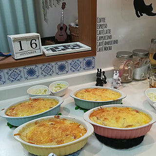 女性家族暮らし3LDK、グラタン皿にに関するakanegumoさんの実例写真
