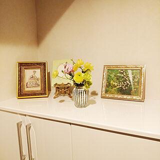 玄関/入り口/フラワーベース/観葉植物/お花のある暮らし/ハーブのある暮らし...などのインテリア実例 - 2020-03-28 18:31:58