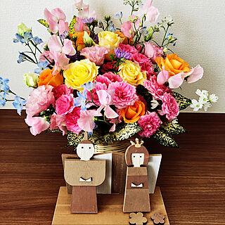 お花/ひな祭り/salut!/シンプル/棚のインテリア実例 - 2020-02-18 13:17:36