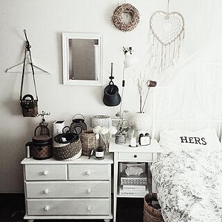 ベッド周り/IKEA/キャンドゥ/H&M HOME/バリ雑貨...などのインテリア実例 - 2020-01-23 13:36:09