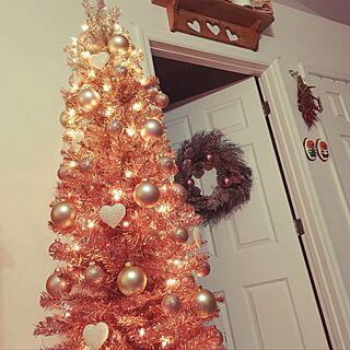 、ピンクのクリスマスツリーに関するさんの実例写真