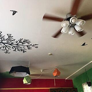 壁/天井/シール貼っただけ。/レトロ/カフェ風/アンティーク...などのインテリア実例 - 2017-07-07 08:19:07