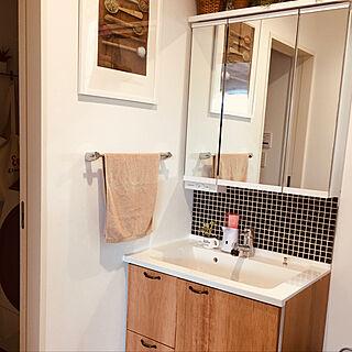 小さい洗面台/DIY/片付け/洗面台DIY/シンプルすぎる洗面所...などのインテリア実例 - 2020-06-20 12:28:08