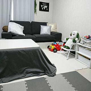 女性30歳の家族暮らし3DK、ニトリこたつに関するmitsumitsuさんの実例写真