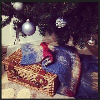 女性家族暮らし、クリスマスツリーの下に関するnyasukeさんの実例写真