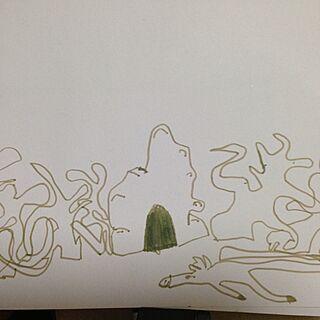 壁/天井/お絵描き/長男/画力/質問です(・ω・)ノのインテリア実例 - 2013-12-14 08:12:39