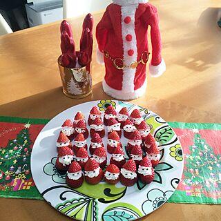 キッチン/メリークリスマス/狭い我が家/築20数年/勝手にフォローさせて頂いてます。。...などのインテリア実例 - 2015-12-24 10:09:40