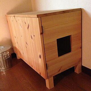 、自作猫トイレに関するwadonnaさんの実例写真