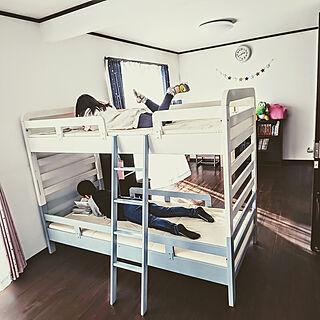 ベッド周り/子供部屋/自家塗装/二段ベッドリメイク/DIY...などのインテリア実例 - 2020-02-24 22:52:37