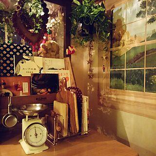 キッチン/可愛いのが好き/大人可愛い/収集/グリーンのある暮らし/料理本のインテリア実例 - 2016-08-05 19:18:04