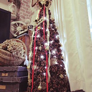 リビング/クリスマス/木の実のツリー/2020.11/ハンドメイドツリーのインテリア実例 - 2020-11-19 15:58:05