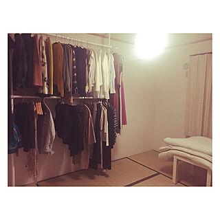 掛ける収納/和室をクローゼットに/ふたり暮らし/賃貸/シンプルに暮らしたい...などのインテリア実例 - 2019-10-12 18:35:04