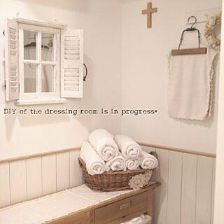 バス/トイレ/板壁DIY/板壁 DIY/腰壁/みせる収納...などのインテリア実例 - 2012-07-26 22:38:29