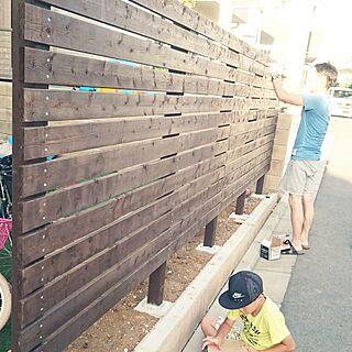 玄関/入り口/ウッドフェンスDIY/北欧/戸建て/にわ...などのインテリア実例 - 2016-08-13 21:22:32