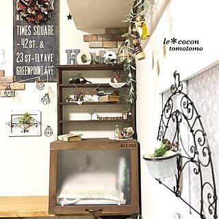 女性家族暮らし3LDK、電話機とパソコン隠し棚に関するtomotomo325さんの実例写真
