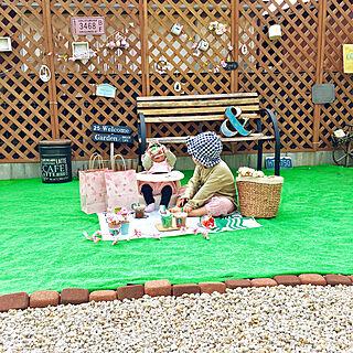 女性31歳の家族暮らし3LDK、DIY庭に関する____pir.y.oさんの実例写真