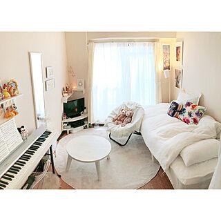 女性30歳の一人暮らし1K、電子ピアノに関するbelleさんの実例写真