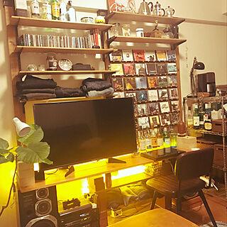 LEDテープライト/LEDライト/一人暮らし/壁面収納/BRIWAX...などのインテリア実例 - 2021-01-09 19:33:21