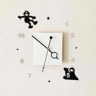 、リビングの時計に関するsariさんの実例写真