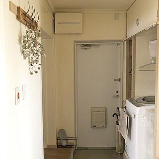 洗濯機置き場/アイアンバー/セリア/団地/賃貸...などのインテリア実例 - 2020-10-30 15:14:43