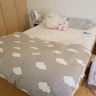 女性一人暮らし1DK、シーツに関するm-kinocoさんの実例写真
