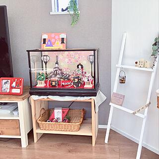 ひな祭り/IKEA 棚/お雛様/ナチュラル/こどものいる暮らし...などのインテリア実例 - 2018-02-19 13:09:19