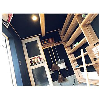 玄関先/黒壁/黒漆喰/漆喰壁DIY/漆喰壁...などのインテリア実例 - 2019-09-13 19:38:14