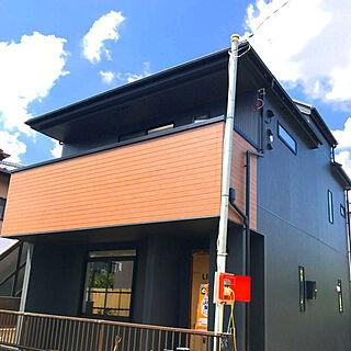 部屋全体/外観/外観《新築工事中》/外壁は黒/外壁...などのインテリア実例 - 2018-06-05 22:55:22