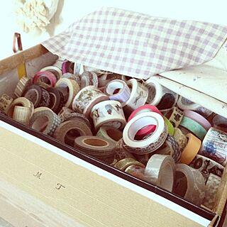 女性32歳の家族暮らし4LDK、布マスキングテープに関するRiiさんの実例写真