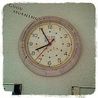 壁/天井/時計をリメイク/子供部屋/IKEAの壁掛け時計/プチリメイク/おはようございます!のインテリア実例 - 2014-10-11 09:02:32