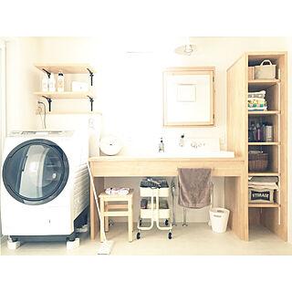 、造作洗面化粧台に関するyoko.さんの実例写真
