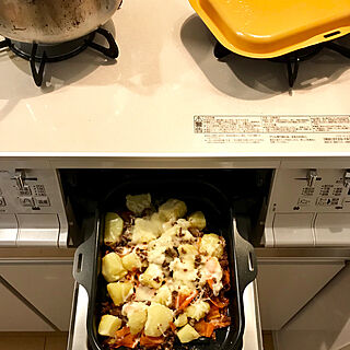 2LDK、キッチン周りに関するlsanaさんの実例写真