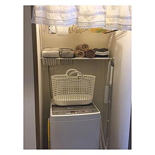 洗濯機まわり/ランドリー/廊下/子供のいる暮らし/ミニマムに暮らしたい...などのインテリア実例 - 2019-05-28 13:53:16