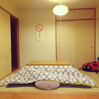 女性44歳の家族暮らし4LDK、てんとうむしに関するkazukiさんの実例写真
