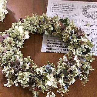 女性家族暮らし3LDK、紫陽花 ドライに関するUnokiさんの実例写真