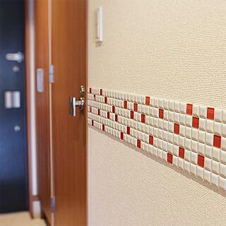 玄関/入り口/廊下の壁/廊下/DIY/タイル...などのインテリア実例 - 2016-04-09 21:12:10