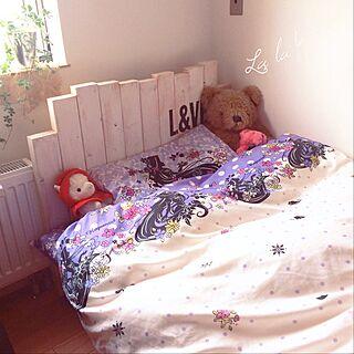 ベッド周り/ラプンツェル/子供部屋女の子/しまむら/こどもと暮らす。...などのインテリア実例 - 2016-05-26 09:31:29